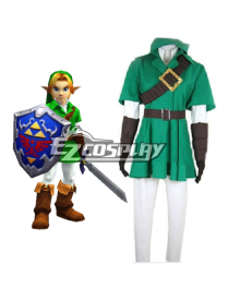 The Legend of Zelda Zeruda no Densetsu Link Cosplay Costume