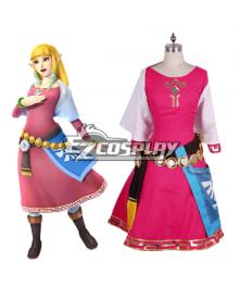 The Legend of Zelda Zeruda no Densetsu Skyward Sword Princess of Hyrule Princess of Destiny Cosplay Costume