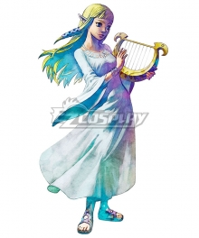 The Legend of Zelda: Skyward Sword Princess Zelda Goddess Hylia White Dress Cosplay Costume