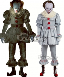 It 2017 Movie Pennywise Halloween Cosplay Costume - Including Mask and Boots