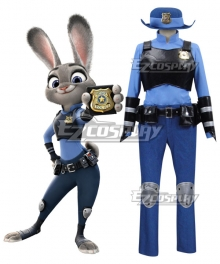 Disney Zootopia Officer Judy Hopps Personify Movie Cosplay Costume