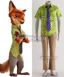 Disney Zootopia Nicholas P.Wilde Fox Nick Cosplay Costume