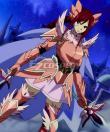Fairy Tail Erza Scarlet Wind God Armor Cosplay Costume