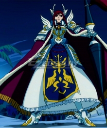 Fairy Tail Erza Scarlet Fairy Farewell Armour Cosplay Costume