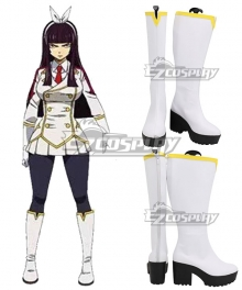 Fairy Tail Kagura Mikazuchi White Shoes Cosplay Boots