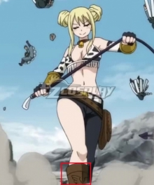 Fairy Tail Lucy Heartfilia Taurus Brown Shoes Cosplay Boots