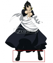 Fairy Tail The Black Wizard Zeref Dragneel Black Shoes Cosplay Boots