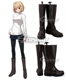 Fate EXTRA Arcueid Brunestud Brown Shoes Cosplay Boots