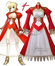 Fate EXTRA Last Encore Nero Claudius Caesar Augustus Germanicus Red Saber Cosplay Costume
