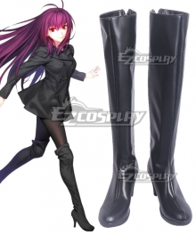 Fate Grand Order 3rd anniversary Lancer Scathach Black Shoes Cosplay Boots