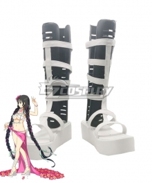Fate Grand Order Alterego Sesshouin Kiara Ascension 5th anniversary White Cosplay Shoes