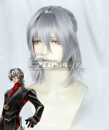 Fate Grand Order Antonio Salieri Silver Grey Cosplay Wig