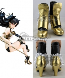 Fate Grand Order Archer Ishtar Rin Tohsaka Golden Cosplay Shoes