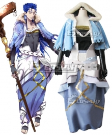 Fate Grand Order Caster Cu Chulainn Cosplay Costume