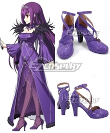 Fate Grand Order Caster Scathach Purple Cosplay Shoes
