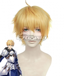 Fate Grand Order Fate Prototype Saber Arthur Pendragon Golden Cosplay Wig