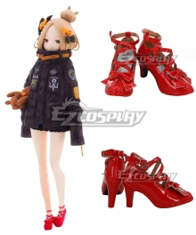 Fate Grand Order FGO 2018 Anniversary Foreigner Abigail Williams Red Cosplay Shoes