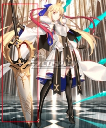 Fate Grand Order FGO Caster Artoria Pendragon Stage 4 Cosplay Weapon Prop