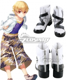 Fate Grand Order FGO Kid Gil White Shoes Cosplay Boots