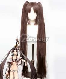 Fate Grand Order FGO Lancer Yu Miaoyi Swimsuit Black CospLay Wig