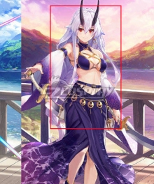 Fate Grand Order FGO Tomoe Gozen Swimsuit Stage 2 Silver Cosplay Wig