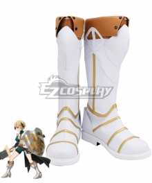 Fate Grand Order Gareth Golden Brown White Cosplay Shoes