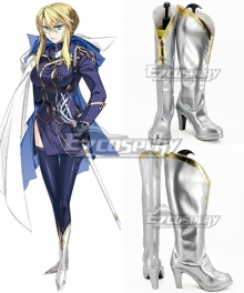 Fate Grand Order Lancer Artoria Pendragon Saber Silver Shoes Cosplay Boots