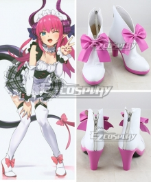 Fate Grand Order Lancer Elizabeth Bathory Maid White Cosplay Shoes