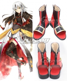 Fate Grand Order Lancer Nagao Kagetora Black Red Cosplay Shoes
