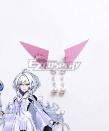 Fate Grand Order Arcade Prototype Caster Merlin Pearl Ear Clip Ear Hook Pink Ear Clips Cosplay Accessory Prop