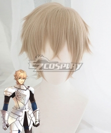 Fate Grand Order Saber Gawain Golden Brown Cosplay Wig