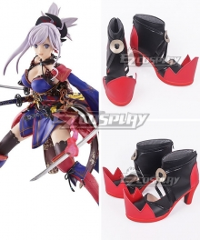 Fate Grand Order Saber Miyamoto Musashi Red Black Cosplay Shoes
