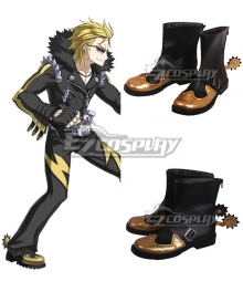 Fate Grand Order Sakata Kintoki Rider Black Yellow Cosplay Shoes