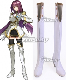 Fate Grand Order Scathach White Shoes Cosplay Boots