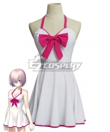 Fate Grand Order Shielder Mashu Kyrielight Swimsuit Cosplay Costume