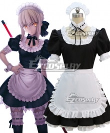 Fate Stay Night Alter Saber Maid Dress Cosplay Costume