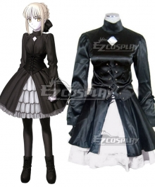 Fate Stay Night Black Saber Artoria Pendragon King Arthur Dress Cosplay Costume