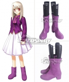Fate Stay Night UBW Illyasviel von Einzbern Purple Shoes Cosplay Boots