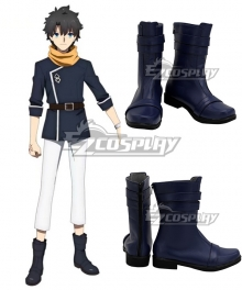Fate/Grand Order FGO Absolute Demonic Front: Babylonia Fujimaru Ritsuka Blue Shoes Cosplay Boots