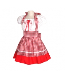 Cute Red Plaid Maid Cosplay Lolita Cosplay Costume