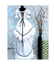 Classic White Lolita Cosplay Costume ELT0005