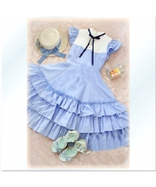 Hawaii Ocean Cute Girl Lolita Cosplay Costume