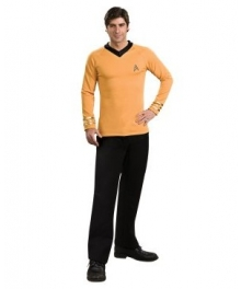 Star Trek Classic Gold Shirt Deluxe Adult Costume EST0006