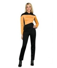 Star Trek Next Generation Gold Jumpsuit Deluxe Adult Costume EST0023