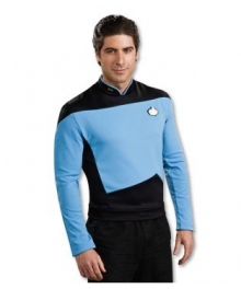 Star Trek Next Generation Blue Shirt Deluxe Adult Costume EST0014