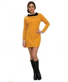 Star Trek Classic Gold Dress Deluxe Adult Costume EST0019