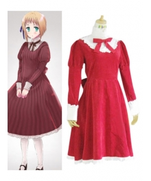 Liechtenstein Red Cosplay Costume from Axis Powers Hetalia