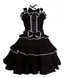 Black Gothic Lolita Cosplay Dress
