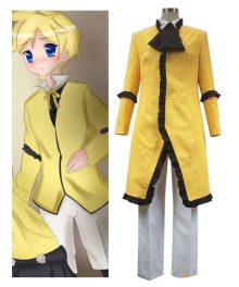 Vocaloid Servant Of Evil Yellow Cosplay Costume