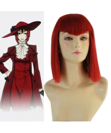 Black Butler Angelina Red Cosplay Wig